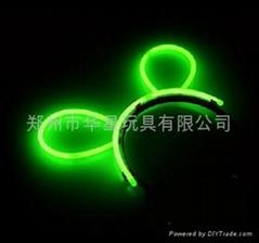 glowstick , glow hairpin, light hair clip