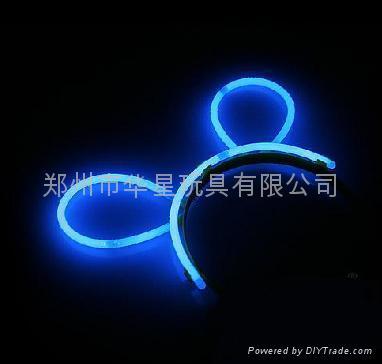glowstick , glow hairpin, light hair clip 2