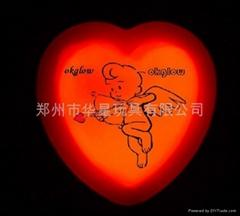 glowstick ,glow  heart Badge