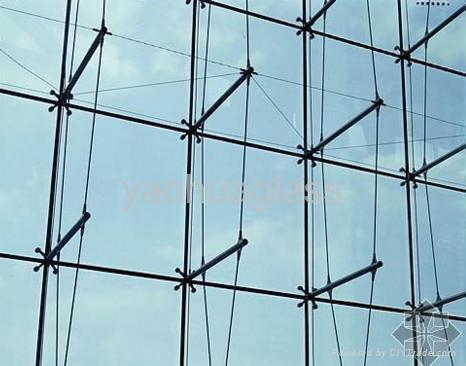 Curtain Wall Glass Supported On Rods