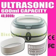 Ultrasonic Cleaner JEWELRY GLASSES KEYS DENTURES 600ml
