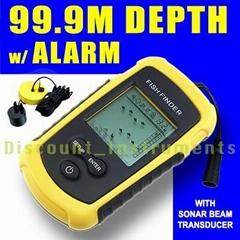 Portable Sonar LCD Fish Finder Alarm Sea Contour Ice