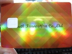 Hologram board for PVC credit card