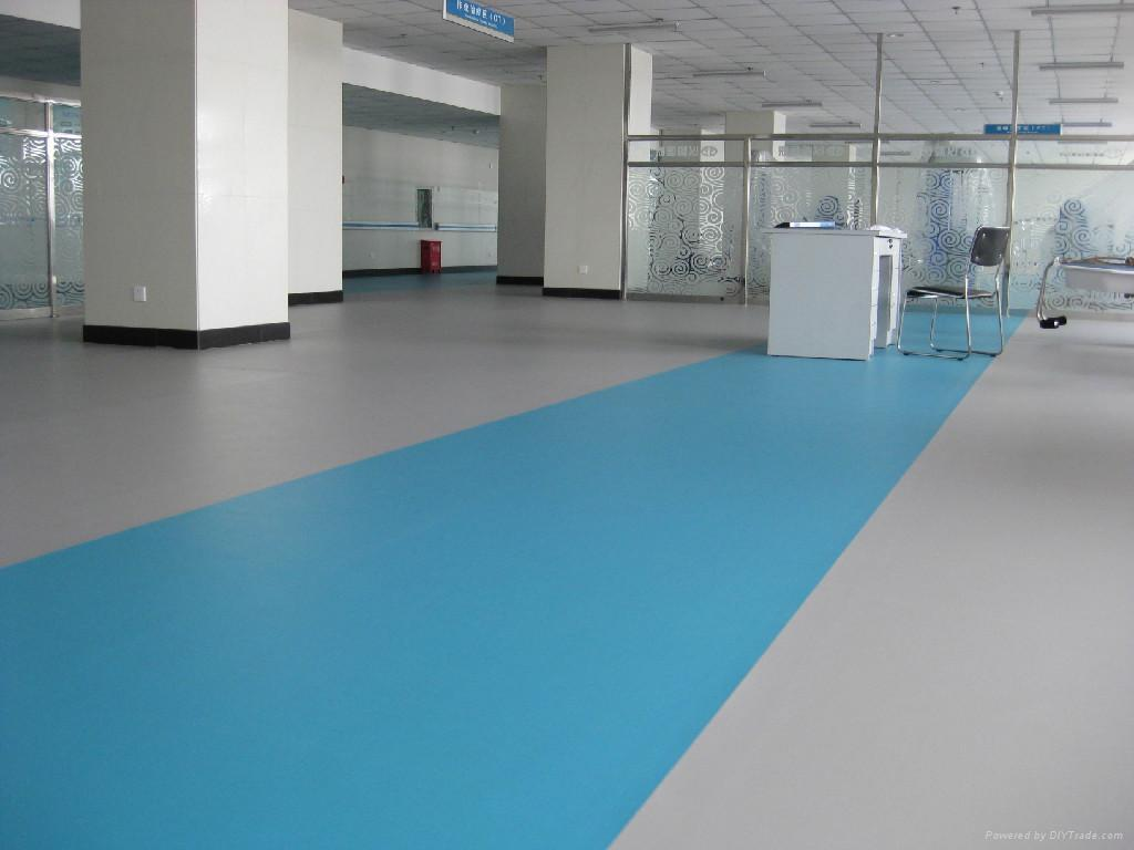 Pvc vinyl floor for hospital use yc yichen china for Floor sheet for office