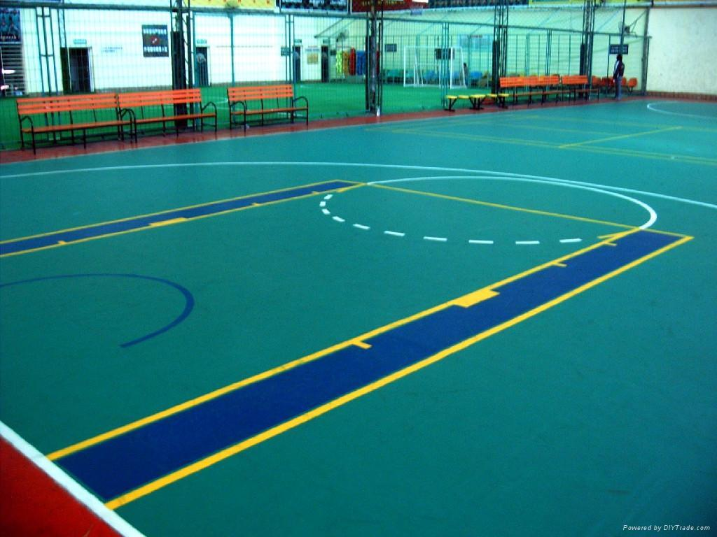 Pvc vinyl basketball sports flooring yichen china for Indoor basketball court flooring cost