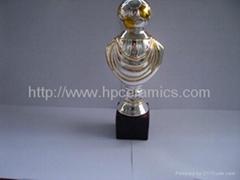 Ceramic Sport Trophy Soccer Awards Keramik Pokale