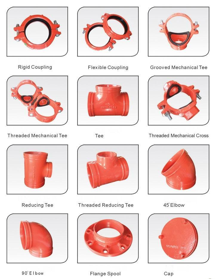 Grooved coupling fittings china manufacturer pipe