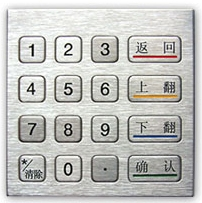 Stainless Steel ATM Numerical Keypad, Weatherproof