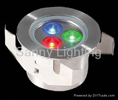 350mA 9W RGB CREE LED ground light with IP68 stainless steel material housing