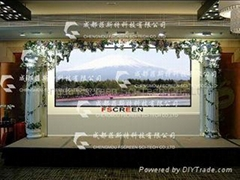 60-150 inch Microstructured Optical Rear Projection Screen