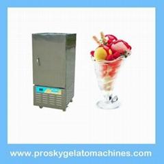 Gelato ice cream batch freezer