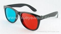 紅青立體眼鏡