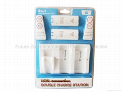Non-connection Double Charger Station for Wii Wiimote-Wii Accessories