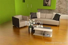Crystal surface laminate floor