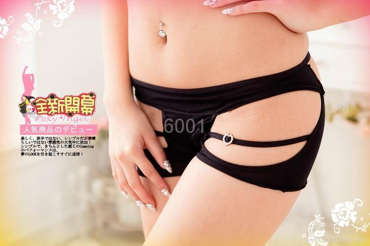 性感文胸三点装+镂空内裤 性感三点式文胸 丁字裤  5