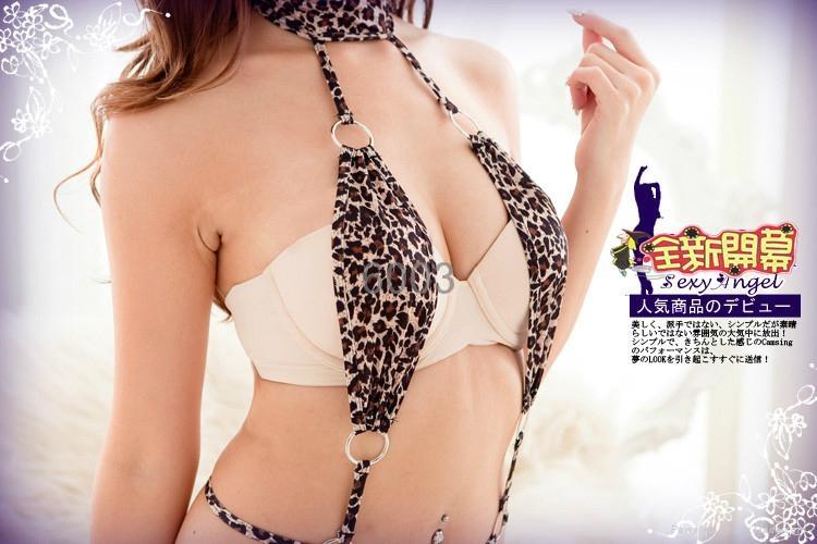 6003新款豹纹三点装 连体性感内衣 性感豹纹三点装  5