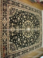 Hand knotted silk mixed wool persian rug