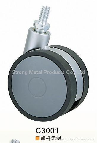 62mm (2.5寸)  塑料家具脚轮   (ABS) 1