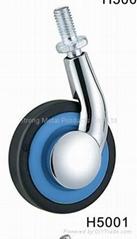 60mm (2.5寸)  單邊金屬傢具腳輪   (合金)