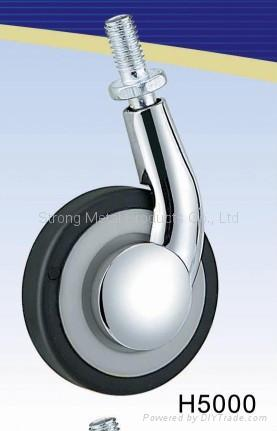 60mm (2.5寸)  单边金属家具脚轮   (合金) 2