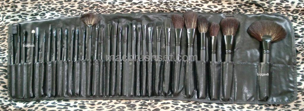 full makeup brush set. professional make-up brush set full size - 32 pcs 1 makeup