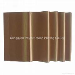 golden color tissue pape