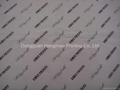 logo print tissue paper