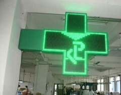 LED Pharmacy Cross Sign With CE Has Many Sizes&Colors