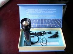 led flashlight/Solar Battery LED flashlight/solar torch light