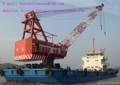 sell used crane barge floating crane 80t 90T 100t 200t 300t 400t 500t upto 4000t