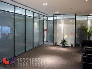 铝合金双层玻璃内置百叶隔断 1