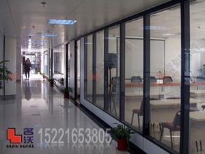 办公室双层玻璃隔断屏风 1