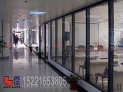 办公室双层玻璃隔断屏风