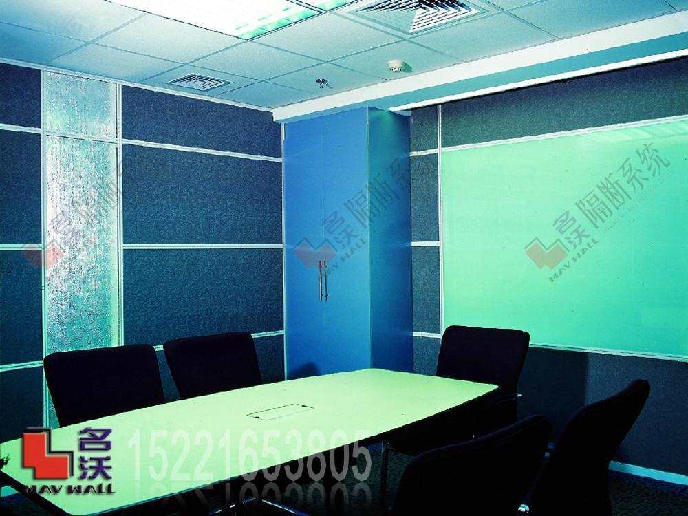 会议室写字板烤漆玻璃隔断墙 1
