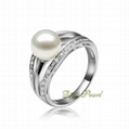925 Silver Freshwater Pearl Ring