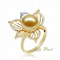 Flower Charming Southsea Pearl Ring