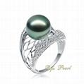 Wedding Ring: 18K Tahitian Pearl Ring