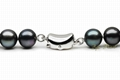 7.5-8mm Black Akoya Pearl Necklace  3