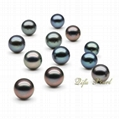 6.5-7mm Black Akoya Half-drilled Loose