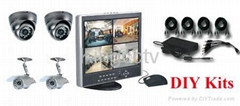4 Cameras CCTV DIY Kit
