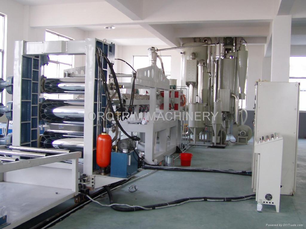 Plastic Sheet Extrusion Line Plastic Machine Orotrim