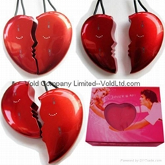 Red Heart  Necklace MP3 Gift MP3 Touch Button Lover MP3 Player