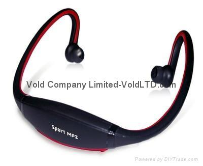 Headphone MP3 Player with 2GB Memory Stereo Music Sports MP3 Portable MP3 Player
