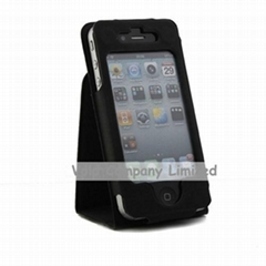 NEW Folding Stand Leather Flip Case for iPhone 4