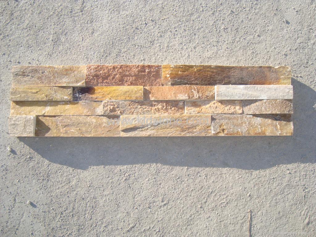 Yellow Granite Stone : Yellow quartz ledgstone kldc kld china