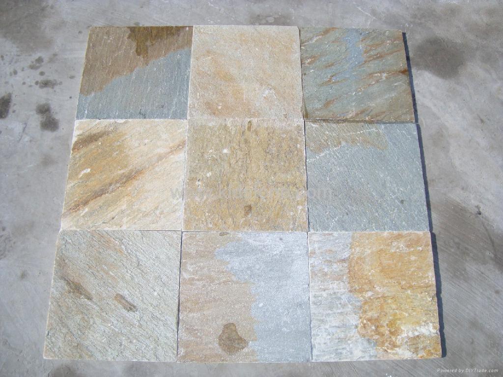Yellow Quartzite Tile Kld014 Kld China Manufacturer