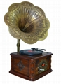 Classic Music Center/Wooden case Turntable Radio USB MP3 CD Player