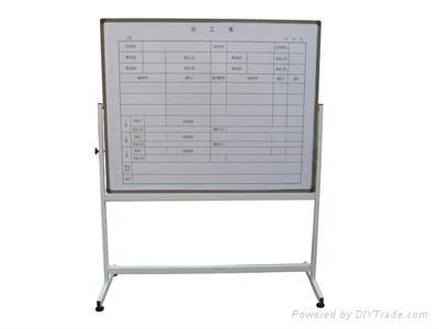 经济型金属绿板  移动式书写黑板  三角支架滑动带夹白板  弧面固定
