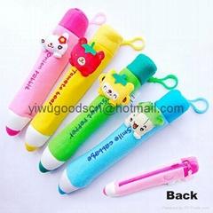 promotional plush pen bag pen pouch