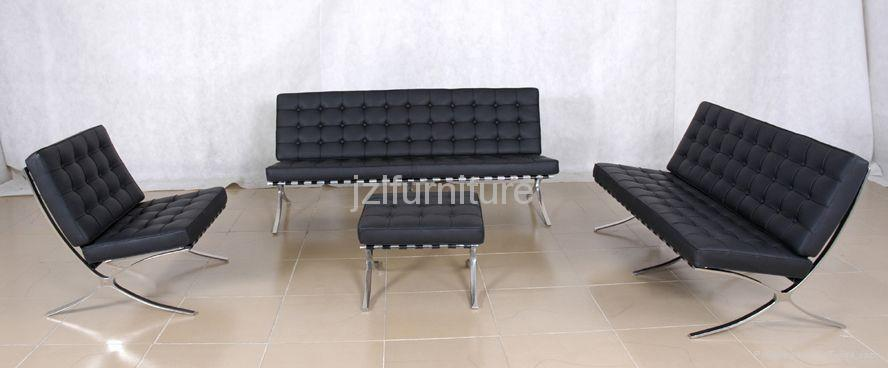 Barcelona chair with ottoman 70022 gbf china for Sofas 4 plazas barcelona